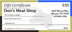 Chattanooga Gift Certificates